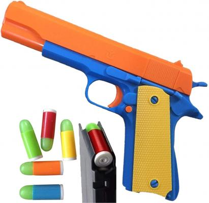 Colt 1911 Toy Gun with Ejecting Magazine and Glow Tip Bullets