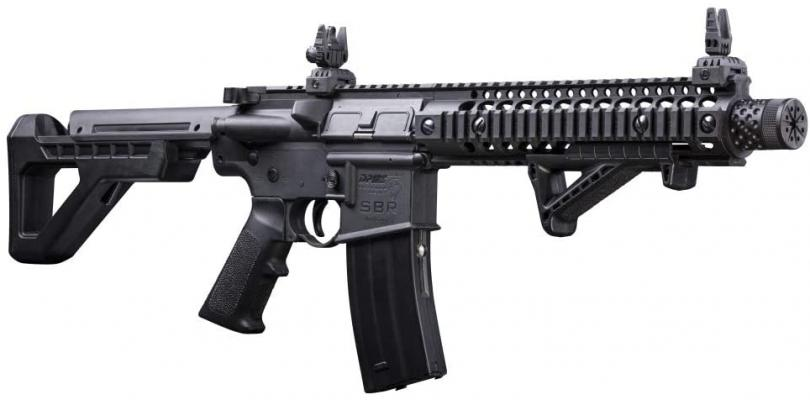 DPMS Full Auto SBR CO2-Powered BB Air Rifle with Dual Action Capability AirSoft