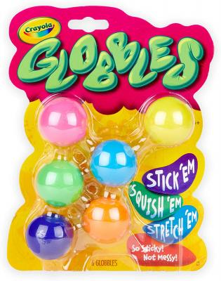 CrayolaGlobbles, Fidget Toys, Squish Gift for Kids, 6 Count, Multicolor