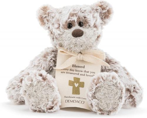 DEMDACO Blessing Mini Giving Bear Brown 8.5 inch Plush Polyester Fabric Stuffed Animal