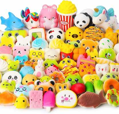 WATINC Random 70Pcs Squeeze Toys