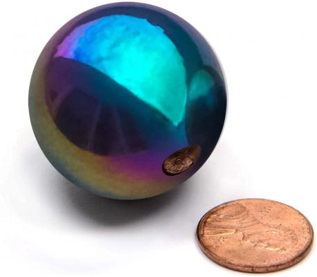 FAXADELLA 6 Pieces of 1.26inch Sphere Magnet Rainbow Magnetic Balls