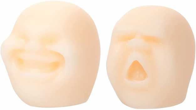 2 Pieces Human Face Emotion Stress Relief Toys
