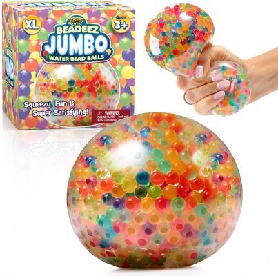 Beadeez Squishy Stress Balls with Gel Water Beads - Jumbo Size (Colorful)