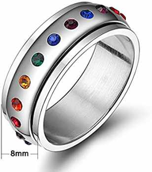 JAJAFOOK Jewelry Stainless Steel Cubic Zirconia Ring