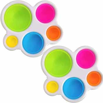 LONEA 2Pcs Fidget Toy, Silicone Bubble Sensory Toy