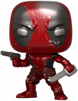 Funko POP! Marvel 80th: First Appearance Deadpool Damaged [Metallic] #590 Exclusive