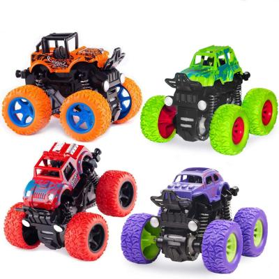 Monster Truck Toys - Friction Powered Toy Cars Push and Go Vehicles