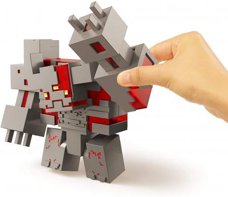 Minecraft Dungeons Redstone Monstrosity, Large Battle Figure (10-inch by 7.3-inch)