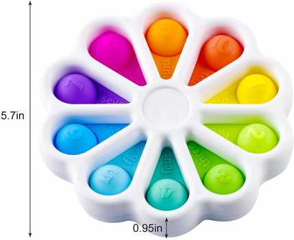 Pop for Push Dimple Toy for Fidget Dimple Digits Toy Flower