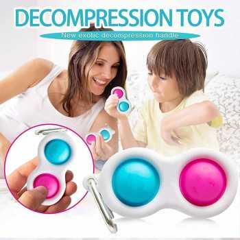 Unicorn Push Pop Fidget Toys Bubble Keychain