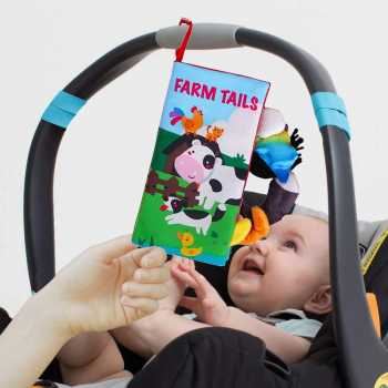 beiens Soft Baby Cloth Books, Touch and Feel Crinkle Books
