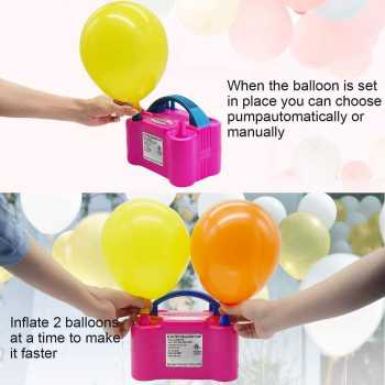 IDAODAN Portable Dual Nozzle Rose Red 110V 600W Electric Balloon Blower