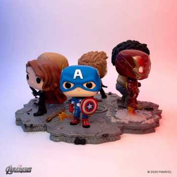 Funko Pop! Deluxe, Marvel: Avengers Assemble Series - Captain America, Amazon Exclusive, Figure 6 of 6