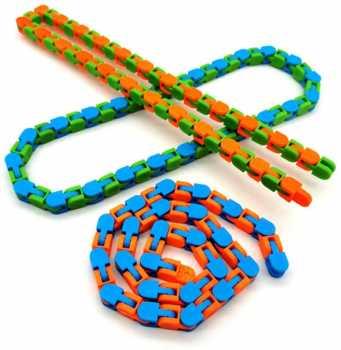 WANLIAN Bicycle Chain Fidget Toy,3ps Interesting Fidget Chain