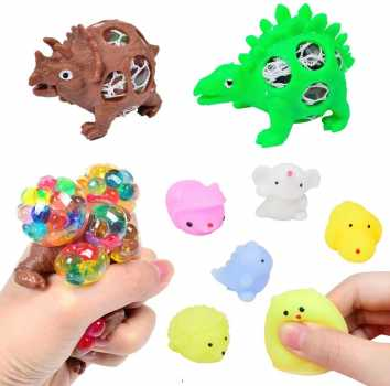 A AINOLWAY Sensory Fidget Toys Set, 18pcs Stress Relief and Anti-Anxiety Tools Bundle for Kids and Adults
