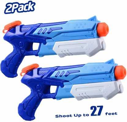 HITOP Water Guns for Kids, 2 Pack Super Squirt Guns Water Soaker Blaster 300CC Toys