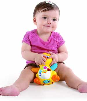 JOYIN Dancing Walking Yellow Duck Baby Toy with Music and LED Light Up