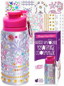 Purple Ladybug Decorate Your Own Water Bottle for Girls