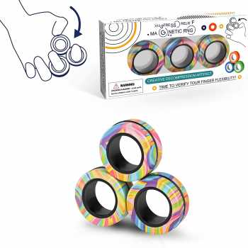 Magnetic Rings Fidget Toy Set