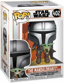 Funko Pop! Star Wars: The Mandalorian - Mandalorian Flying with The Child