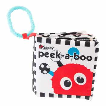 Sassy Peek-a-Boo Activity Book with Attachable Link for On-The-Go Travel