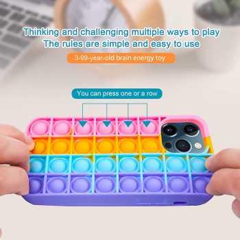 MEIGO Pop It Phone Case Compatible with iPhone 12/12 Pro