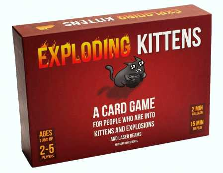 Exploding Kittens Card Game - Family-Friendly Party Games