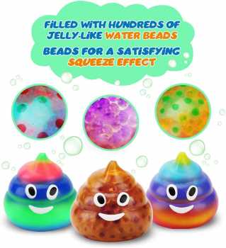 EVERICH TOY Poop Stress Relief Balls (Set of 3)