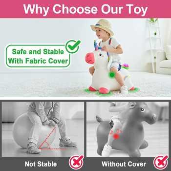 iPlay, iLearn Bouncy Pals Unicorn Bouncy Horse Plush
