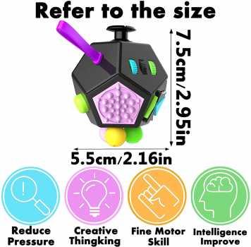 Yomiie Fidget Cube Toys, 12 Sides Fidget Cube Dice Dodecagon
