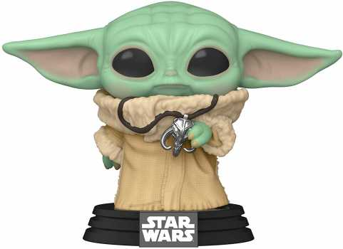 Funko Pop! Star Wars: The Mandalorian - The Child with Necklace Vinyl Figure, Fall Convention Exclusive Action Figure