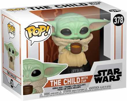 Funko Pop! Star Wars: The Mandalorian - The Child with Cup Vinyl Bobblehead