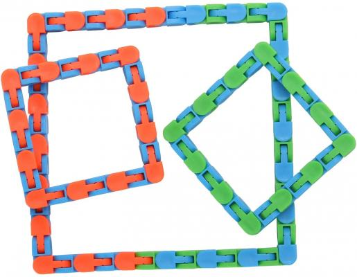 Yeetec 6 Pack 24 Links Wacky Tracks Snap and Click Fidget Toys