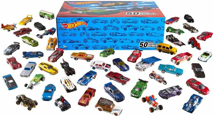 Hot Wheels 50-Car Pack of 1:64 Scale Vehicles Individually Packaged