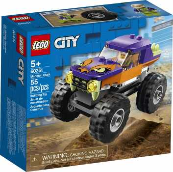 LEGO City Monster Truck 60251 Playset, Building Sets for Kids, (55 Pieces)