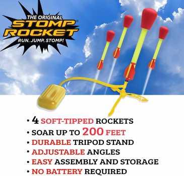 The Original Stomp Rocket Ultra Rocket Launcher, 4 Rockets and Toy Air Rocket Launcher