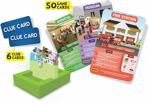 Skillmatics Guess in 10 All Around The Town - Card Game
