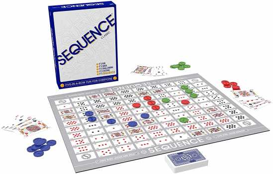 SEQUENCE Game with Folding Board, Cards and Chips