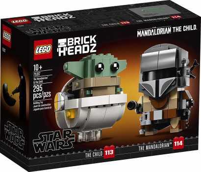 LEGO BrickHeadz Star Wars The Mandalorian & The Child 75317 295 Pieces Building Kit