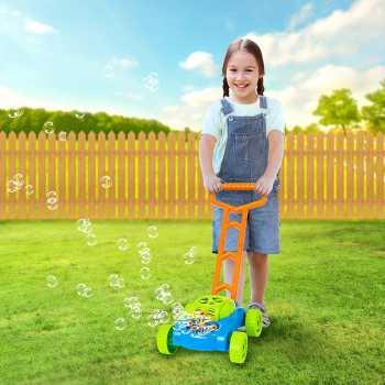 ArtCreativity Bubble Lawn Mower - Electronic Bubble Blower Machine