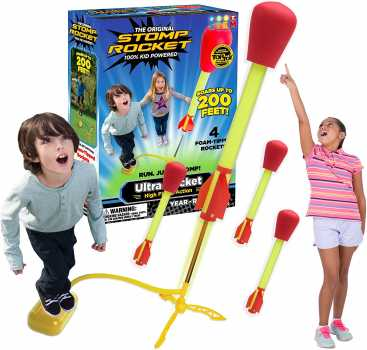 The Original Stomp Rocket Ultra Rocket Launcher, 4 Rockets and Toy Air Rocket Launcher