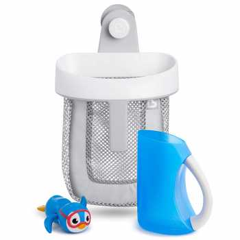 Munchkin Bath Essentials Set with Bonus Wind-Up Swimming Penguin