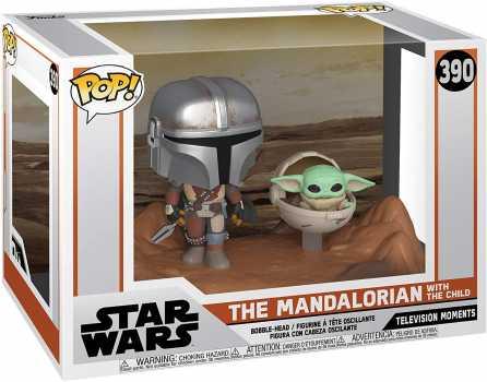 Funko Pop! Moment Star Wars: The Mandalorian - Mandalorian and The Child Vinyl Bobblehead