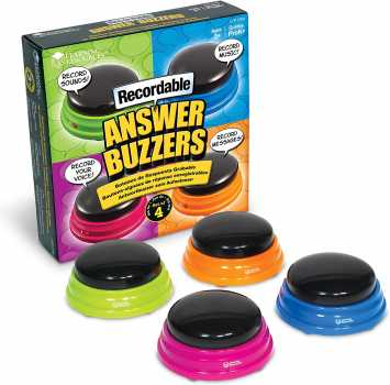 Learning Resources Recordable Answer Buzzers, Personalized Sound Buzzers