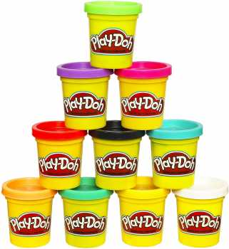Play-Doh Modeling Compound 10-Pack Case of Colors, Non-Toxic, Assorted, 2 oz. Cans