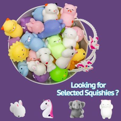 Mochi Squishy Toys Animal Squishies - 3 Surprise Eggs