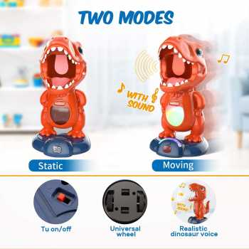 Movable Dinosaur Shooting Toy