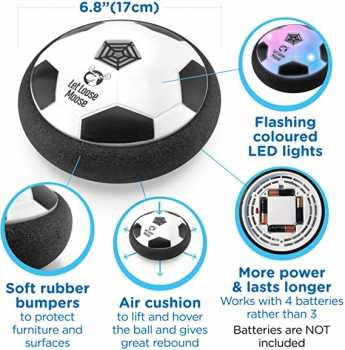 LLMoose Hover Soccer Ball, Hover Ball with LED Lights and Soft Foam Bumpers