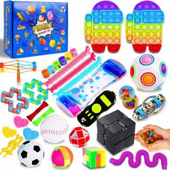 IGINOA 41 Pack Fidget Figetget Sensory Toy Box Set